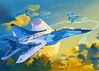 Tablou canvas avioane, ilustratie (13)