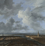 tablou jacob van ruisdael - a panoramic view of amsterdam looking towards the ij