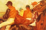 Tablou canvas 1881  edgar degas - jockeys
