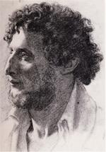 tablou 1856  edgar degas - portrait d'un italien  dessin  fusain