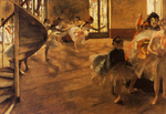 tablou 1877  edgar degas - la repetition de danse