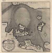 tablou Marea nordului, fluxul si refluxul, 1686