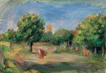 Tablou canvas renoir - landscape with cows