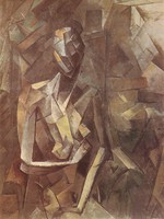 tablou picasso- seated nude [1910]
