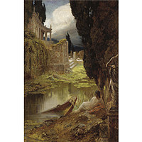tablou eduard buchler - classical ruins with naked in the foreground, 1915