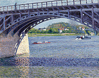 tablou gustave caillebote - the argenteuil bridge on the seine, 1883
