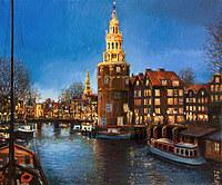 tablou amsterdam, reproducere pictura
