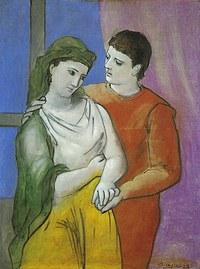 tablou picasso - les amoureux, 1923