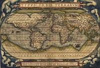 tablou harta antica, 1570