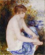 tablou renoir - little blue nude, 1878 79