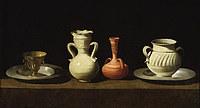 tablou francisco de zurbaran - still life with four vessels (1660)