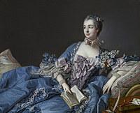 tablou francois boucher - marquise de pompadour (1758)