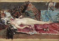 tablou jose garcia ramos - reclining nude, 1875