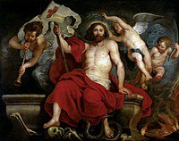 tablou rubens- the triumph of christ over sin and death (1615)