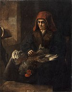 tablou (f) rembrandt - the old woman plucking poultry (1650