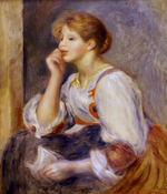 Tablou canvas renoir - girl wth a letter, 1890
