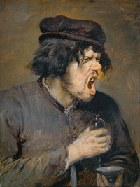 tablou adriaen brouwer - the bitter potion