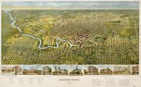 tablou Harta antica houston, texas, 1891