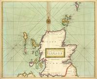 tablou sea coast of scotland, 1702