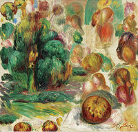 tablou pierre auguste renoir - heads, trees and fruits, 1892