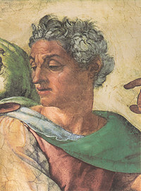 Tablou canvas michelangelo - prophet isaiah, sistine chapel (detail)