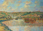 tablou claude monet   late afternoon in vetheuil, 1880